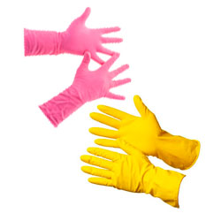 Гумові господарські рукавички