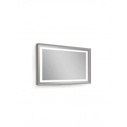 Зеркало 80*60см, в алюминиевой раме, с подсветкой, с подогревом, цвет капучино (мебель под умывальник VERITY LINE) (B4298000C
