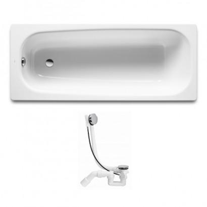 Комплект: ROCA CONTINENTAL ванна 170*70 см + VIEGA SIMPLEX сифон для ванни автомат (285357) (A21291100R+285357)