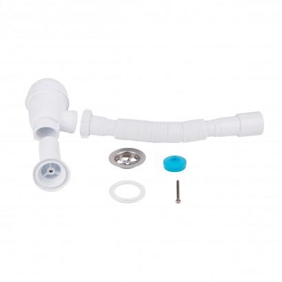 Сифон для кухонної мийки Lidz (WHI) 60 05 M001 00 (вихід 50 мм) (SD00042784)
