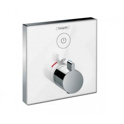 SHOWERSELECT термостат для одного потребителя, стеклянный, см, белый/хром (15737400)