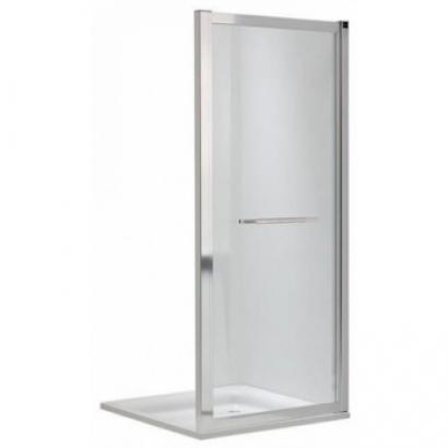 GEO душевая стенка 90см, боковая, тип walk-in, прозрачное стекло, серебристый блеск, с покрытием Reflex (560.129.00.3)
