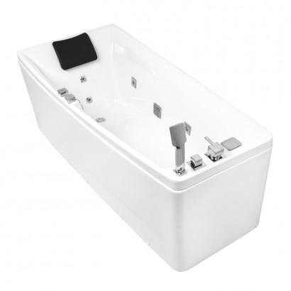 Ванна 170*75*63 см, асиметрична, гідромасажна, ліва (12-88-102/L)