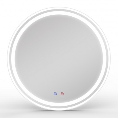Зеркало круглое 60*60см с подсветкой, диммером, подогревом зеркала (16-21-600)