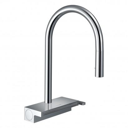 AQUNO SELECT M81 смеситель для кухни 170, однорычажный, с выдвижным душем, 3jet, sBox, хром (73831000)