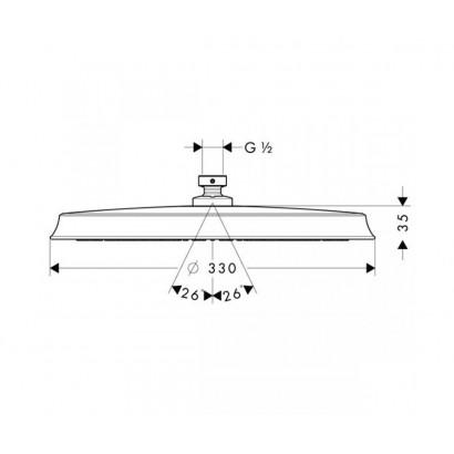 "Axor Верхний душ -""тарелка"" 180мм (28434000)"