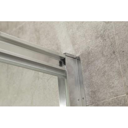 Дверь bifold 90*195, профиль хром, стекло прозрачное 5мм (599-163-90(h))