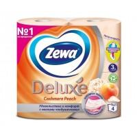 Tуалетний папір білий  Zewa Deluxe Pure персик (901) (30578)