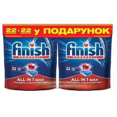FINISH засіб д/миття посуду 22 + 22 таб. ALL IN 1 BOGOF