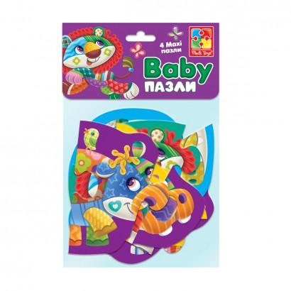 """Бебі MAXI пазли картонні в пакеті """"Диво-зоопарк"""" // (VT1722-20)123189"""