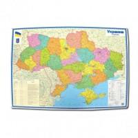 Політична карта України м-б 1:1 500 000 (УКР) (1384)