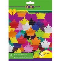 Гофрокартон глянцевий А4, 8 цветов, 8 листов (ZB.1971)