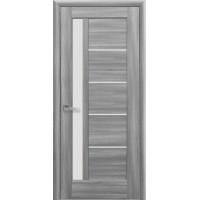 """Дверне полотно ПВХ """"Грета"""" 90 бук попелястий + скло (123687)"""