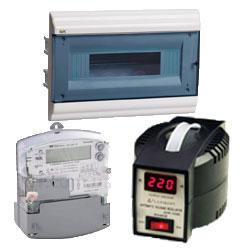 Розподільчі щити, автоматичні вимикачі та стабілізатори