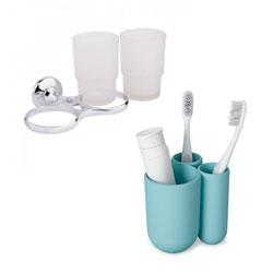 Тримачі та стакани для зубних щіток